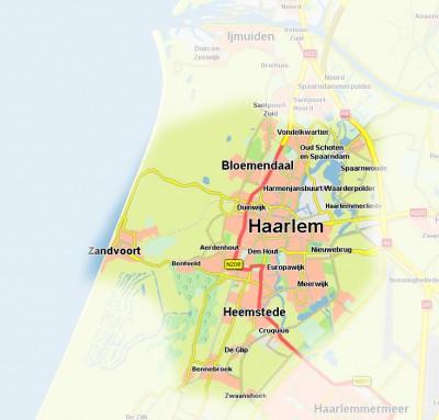 Werkgebied Stichting Comité Bijzondere Hulp Zuid-Kennemerland
